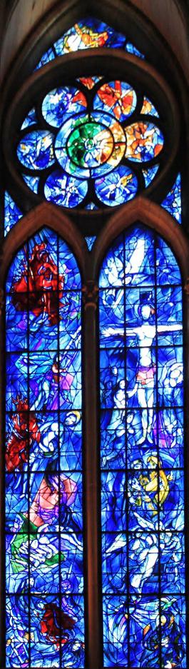 Witraż w katedrze w Reims - Marc Chagall