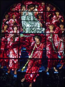 Sąd ostateczny projekt Edwarda Burne-Jones 1891; znajduje się w Katedrze St.Philip's w Birmingham (Wielka Brytania)
