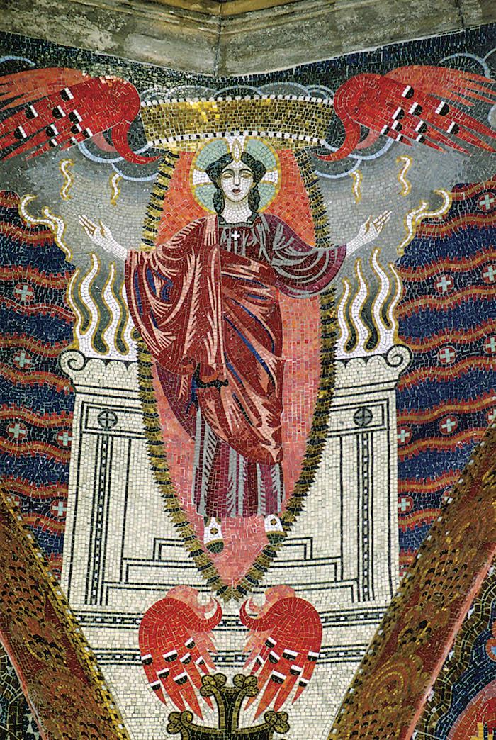 Katedra Ormiańska we Lwowie - mozaika personifikacji cnoty - proj. Józef Mehoffer