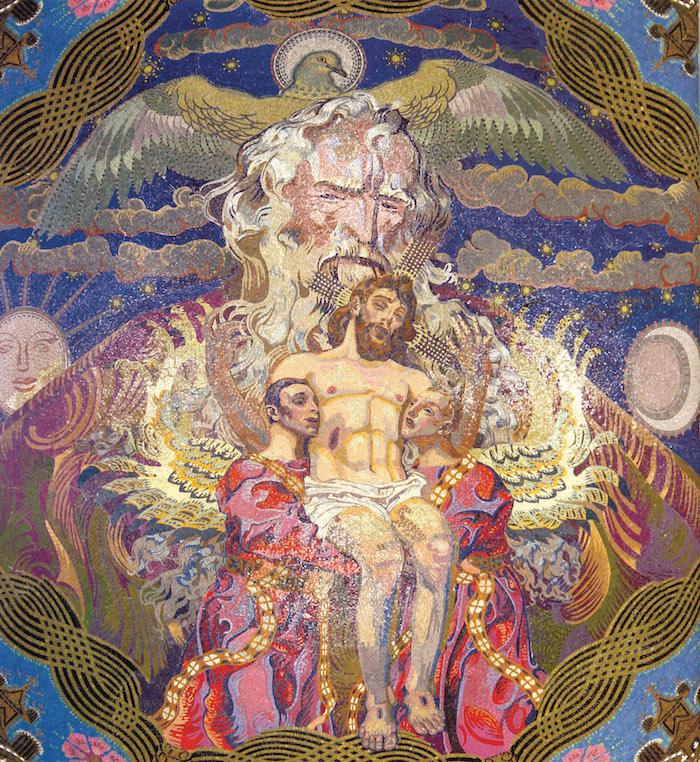 Katedra Ormiańska we Lwowie - mozaika Święta Trójca