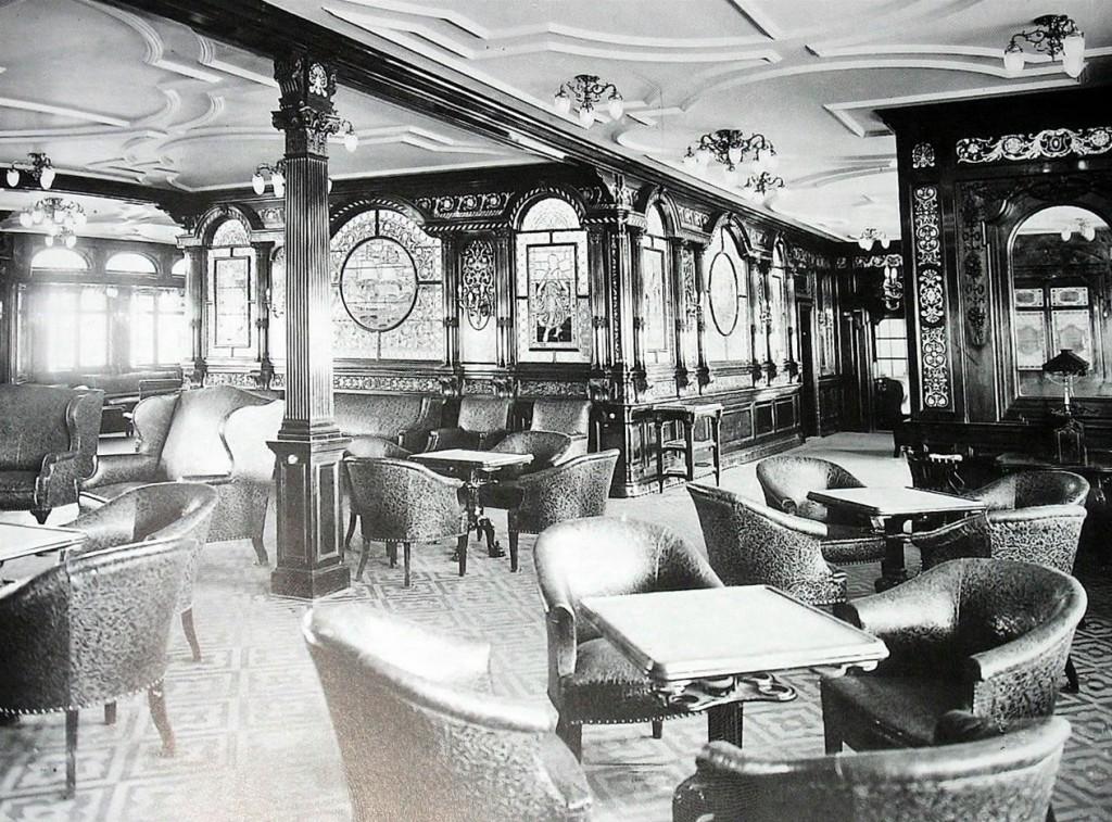Salon dla palących I klasa na statku Titanic
