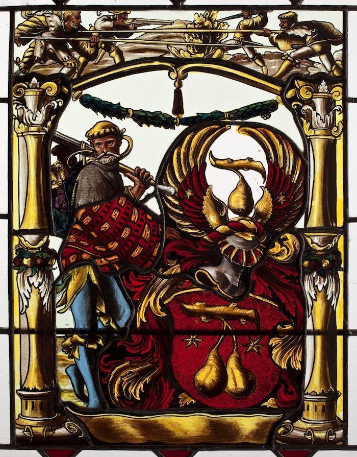 13.  Witraż herbowy, Niemcy, ok. 1870