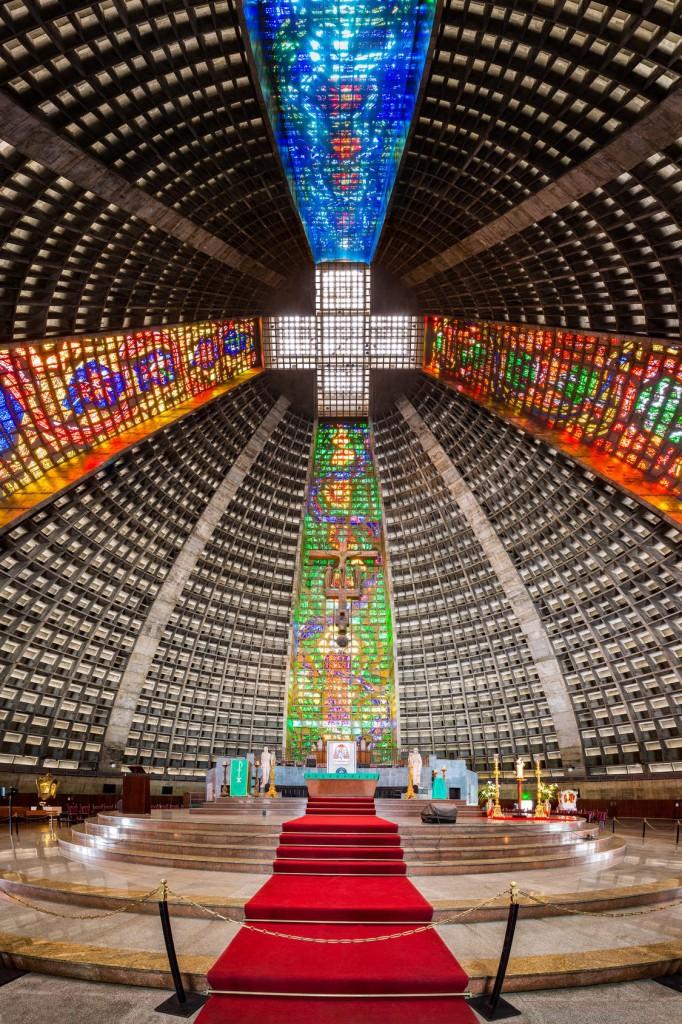 Katedra Św. Sebastiana w Rio de Janeiro - witraże