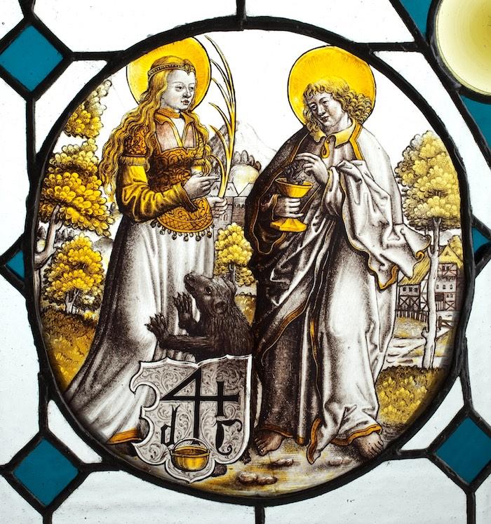 3.Św. Małgorzata i św. Jan Ewangelista, Niemcy, Kolonia, ok. 1520.
