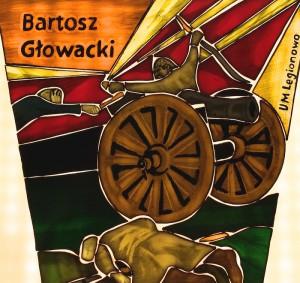 Fot.3 Elementy witraża poświęconego Bartoszowi Głowackiemu po wypaleniu