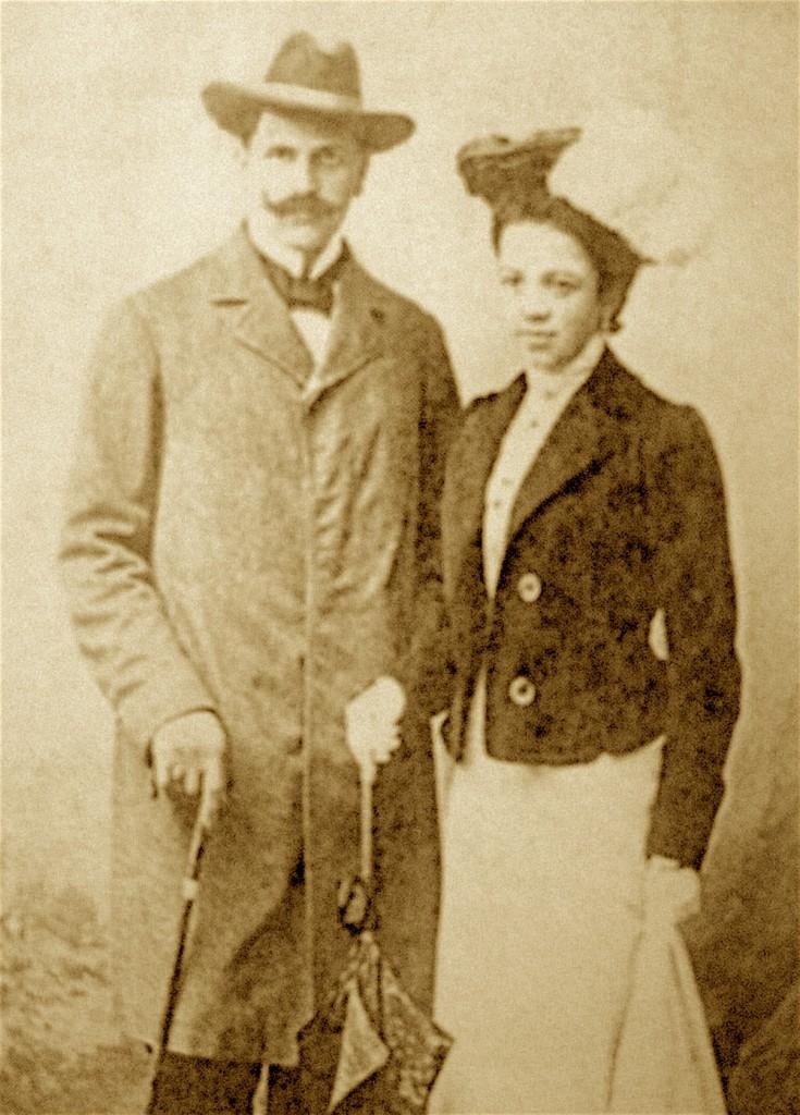 Stanisław Gabriel Żeleński z żoną Izabellą Żeleńską