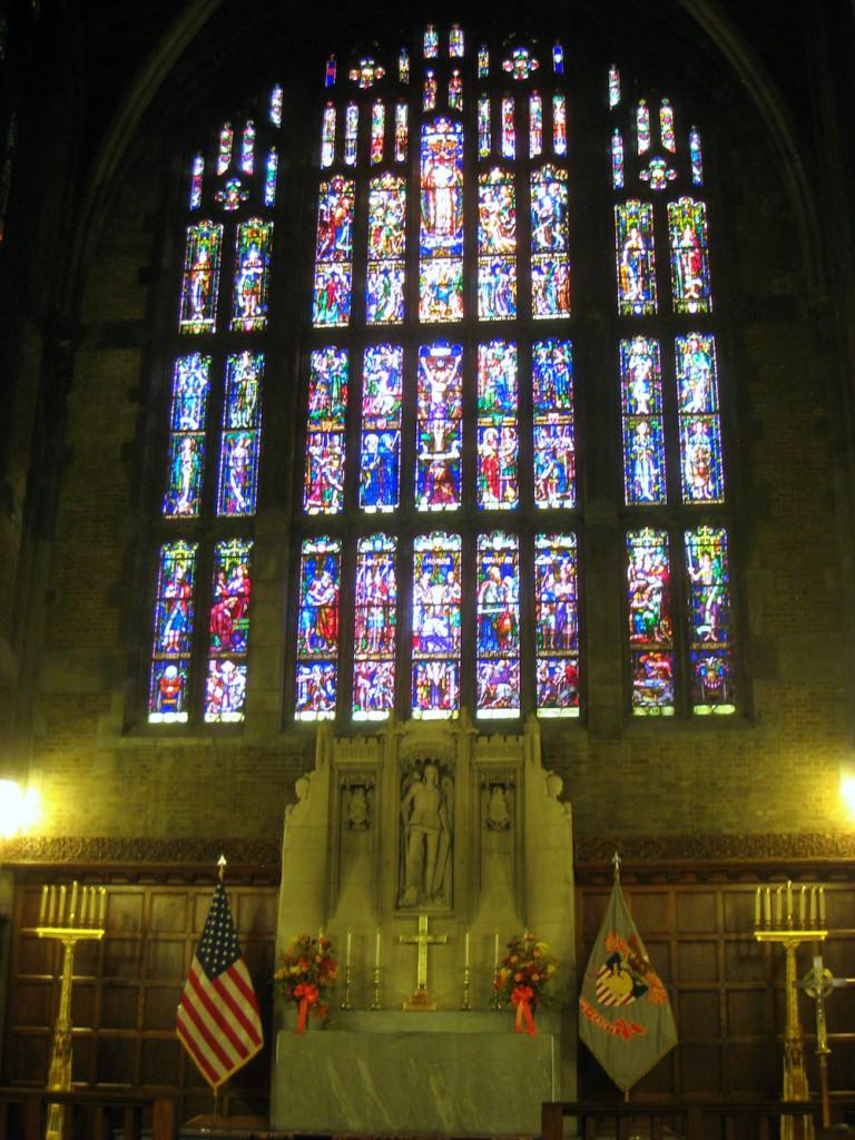 Prezbiterium w kaplicy kadetów w West Point