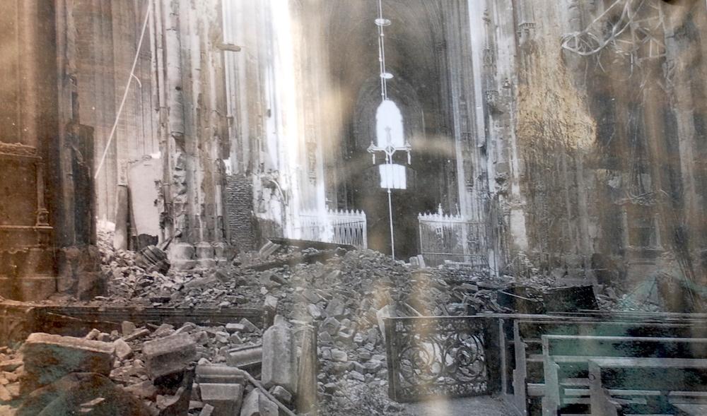 Katedra Św. Szczepana - Wiedeń. Zniszczenia po II wojnie światowej