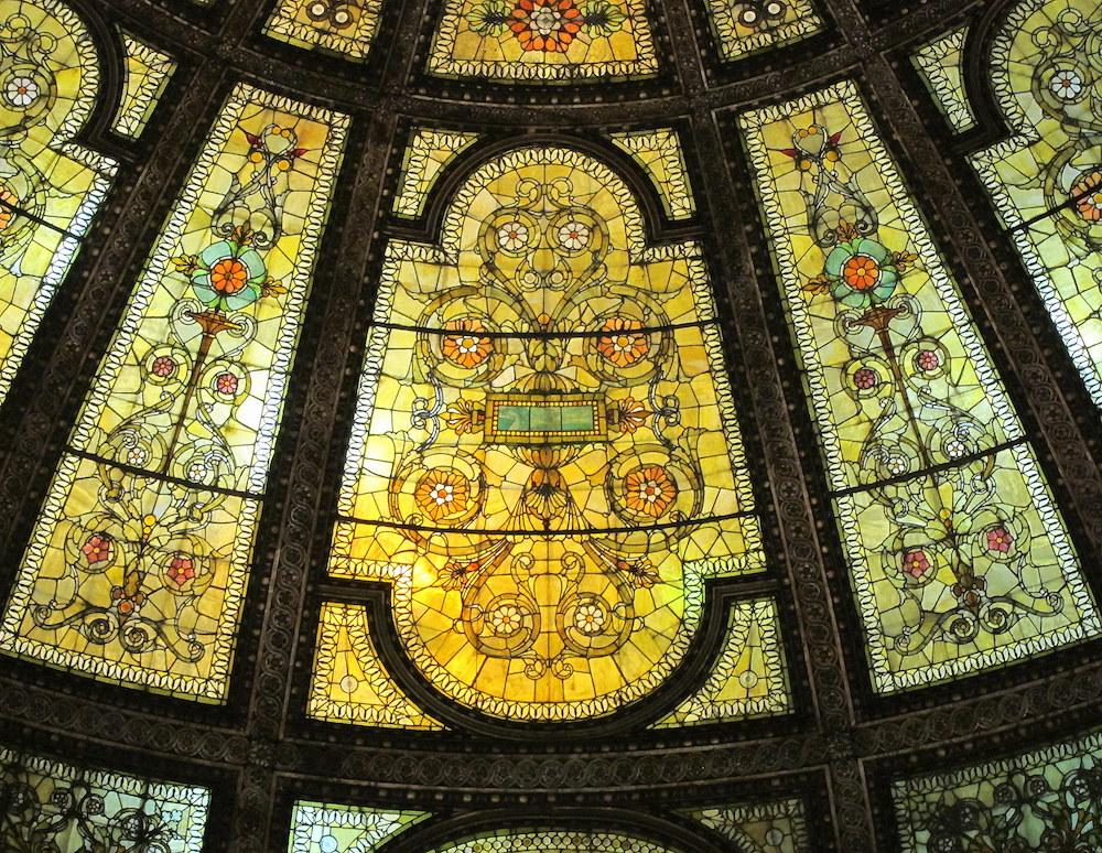 Fragment - kopuły witrażowej Tiffany