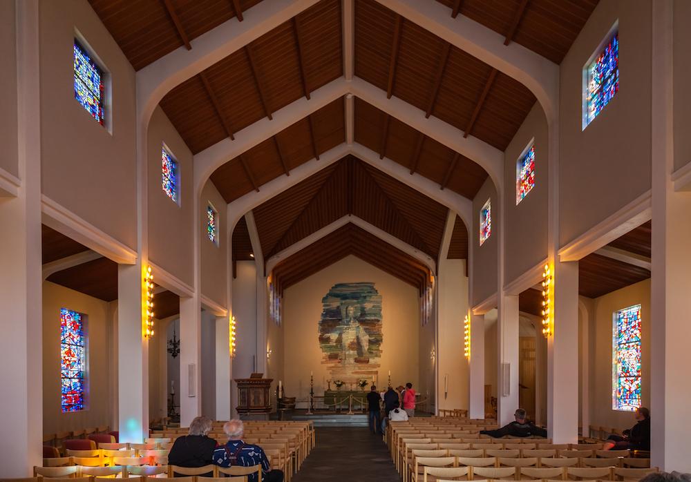 Wnętrze  katedry w Skalholt