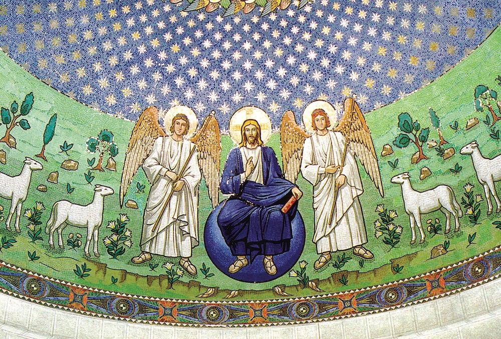 Mozaika w Katedrze Ormiańskiej we Lwowie - Chrystus z aniołami