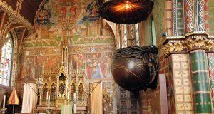 Europejskie witraże średniowieczne w Brugii