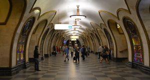 Witraże w metrze
