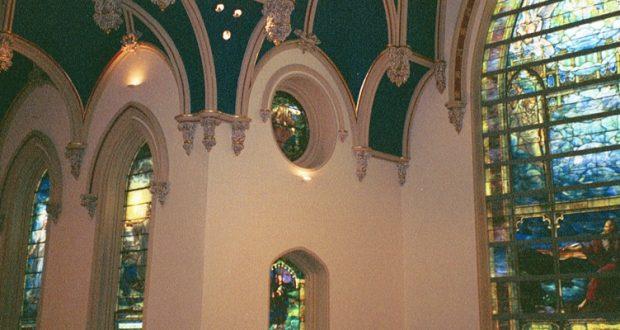 Witraże Tiffany w kościele Prezbiteriańskim w Baltimore